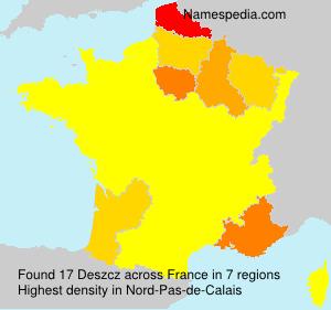 Familiennamen Deszcz - France