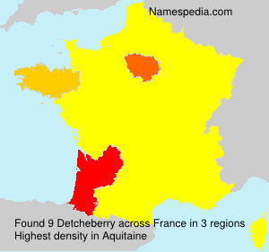Surname Detcheberry in France