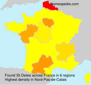 Surname Detee in France