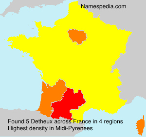 Surname Detheux in France