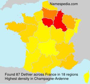 Surname Dethier in France