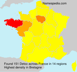 Surname Detoc in France