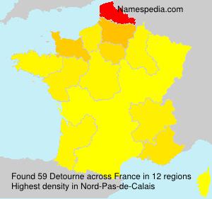 Surname Detourne in France