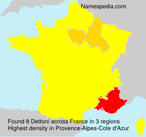 Surname Dettoni in France
