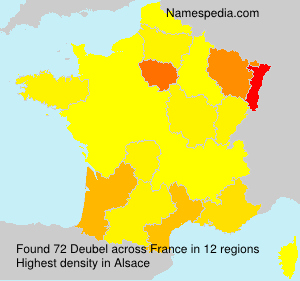Surname Deubel in France