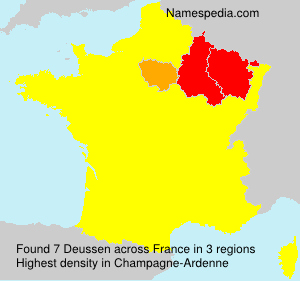 Surname Deussen in France