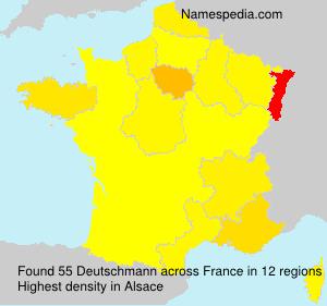 Surname Deutschmann in France