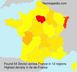 Familiennamen Deveci - France