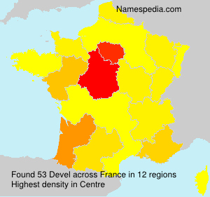 Surname Devel in France