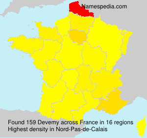 Surname Devemy in France