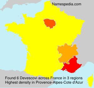 Surname Devescovi in France
