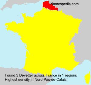 Surname Devetter in France