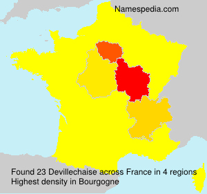 Surname Devillechaise in France