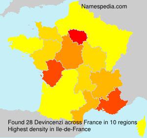 Surname Devincenzi in France