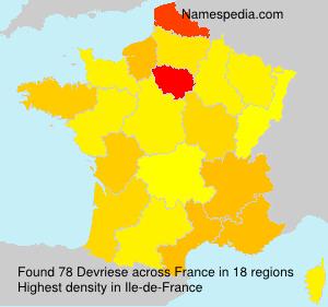Surname Devriese in France