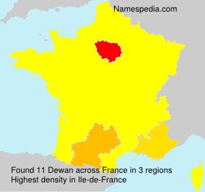 Surname Dewan in France