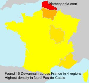 Surname Dewannain in France