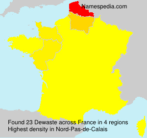 Surname Dewaste in France