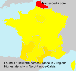 Surname Dewintre in France