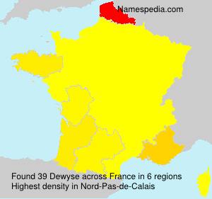 Surname Dewyse in France