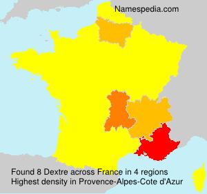 Familiennamen Dextre - France