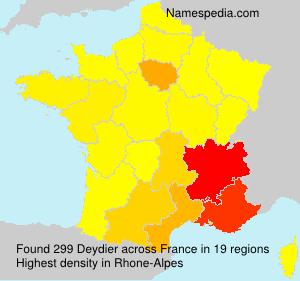 Surname Deydier in France