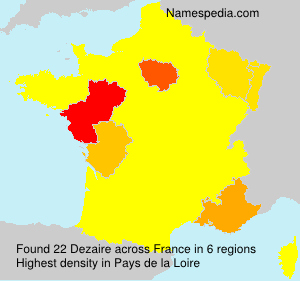 Surname Dezaire in France