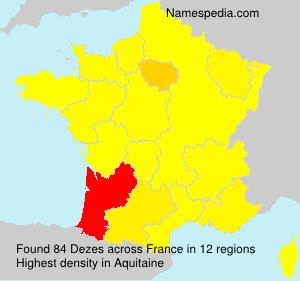 Familiennamen Dezes - France