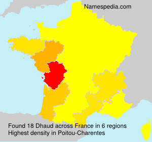 Surname Dhaud in France