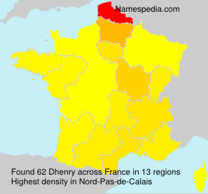 Surname Dhenry in France