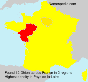 Surname Dhion in France