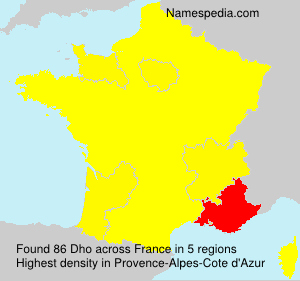 Familiennamen Dho - France