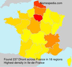Surname Dhont in France