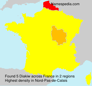 Surname Diakiw in France
