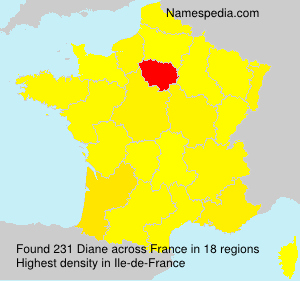 Familiennamen Diane - France