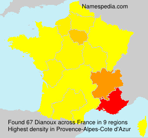 Surname Dianoux in France