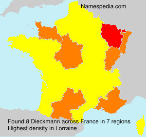 Surname Dieckmann in France