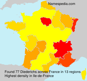 Surname Diederichs in France