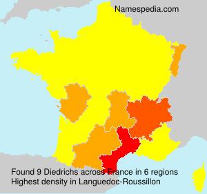 Surname Diedrichs in France
