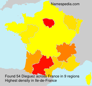 Surname Dieguez in France