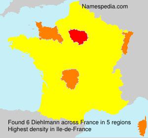 Surname Diehlmann in France