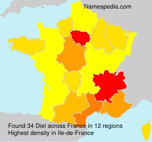 Surname Diel in France