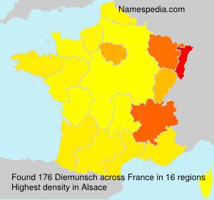 Surname Diemunsch in France