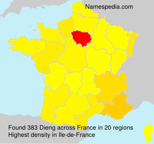 Surname Dieng in France