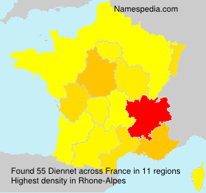 Surname Diennet in France