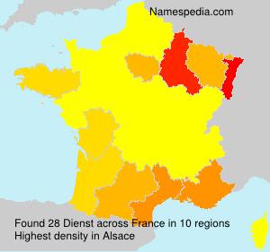Surname Dienst in France