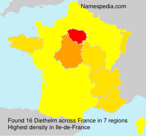 Surname Diethelm in France