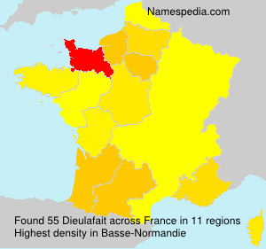 Surname Dieulafait in France