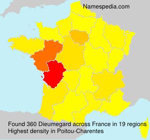Familiennamen Dieumegard - France