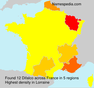 Surname Difalco in France